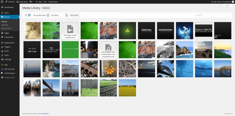 WordPress Upload Image - Media Library