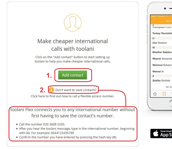 Making calls without the app | Help Center | toolani - Cheap