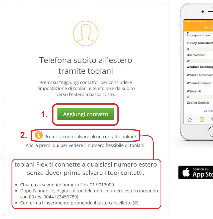 Telefonare senza l 39 app centro d 39 assistenza toolani for Numero per chiamare amazon