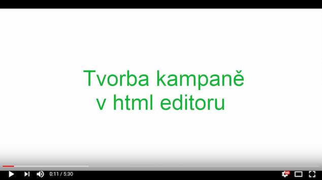 Tvorba emailove kampane v HTML editoru