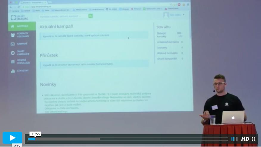 Video zaznam workshop Smartemailing praktický Praha 2015