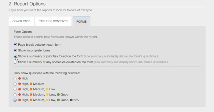 Edit Form Reports