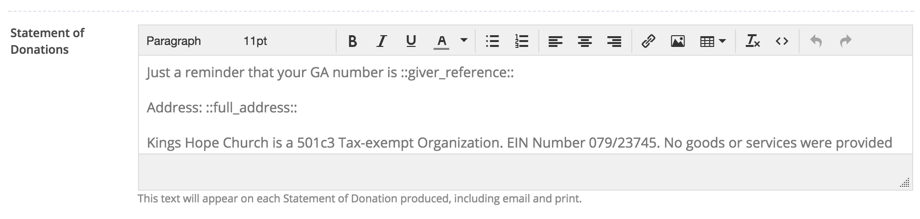 Getting started with the giving module churchsuite support articles entering the information here will save you having to enter the details each time you submit a gift aid claim negle Images