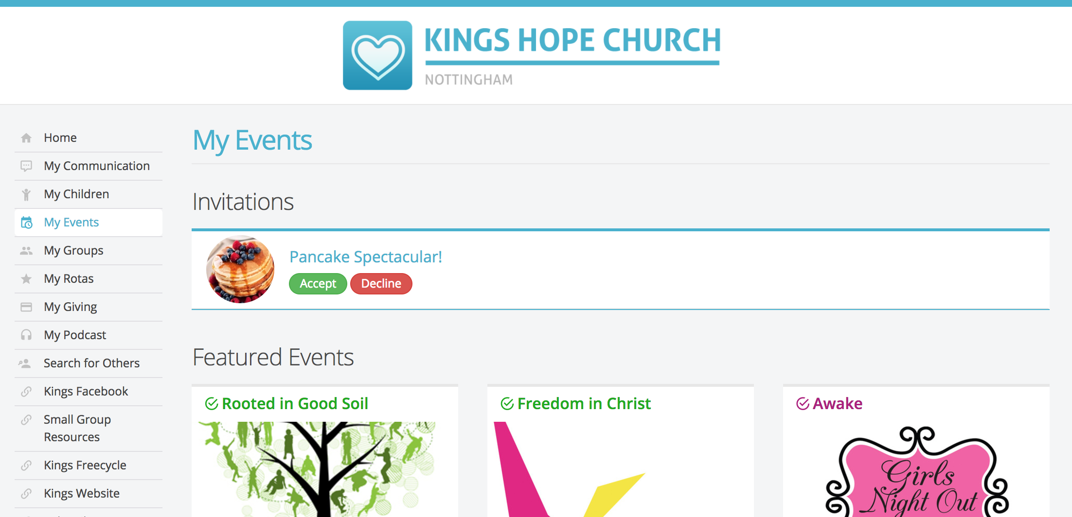 Event invitations churchsuite support articles for events that are set as visible within my churchsuite and that have sign up through my churchsuite enabled invitees will see invitations awaiting stopboris Choice Image