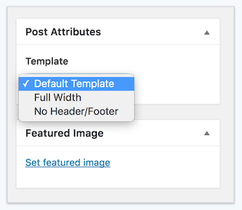 Change the wordpress page template for single pages and posts note any template setting besides default suppresses the featured image on that post page no matter how it is set in customizer content post layout pronofoot35fo Images