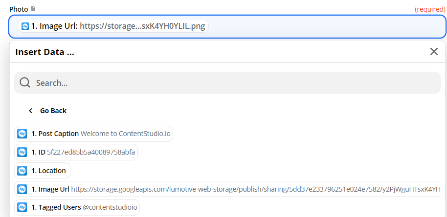 Select Image URL