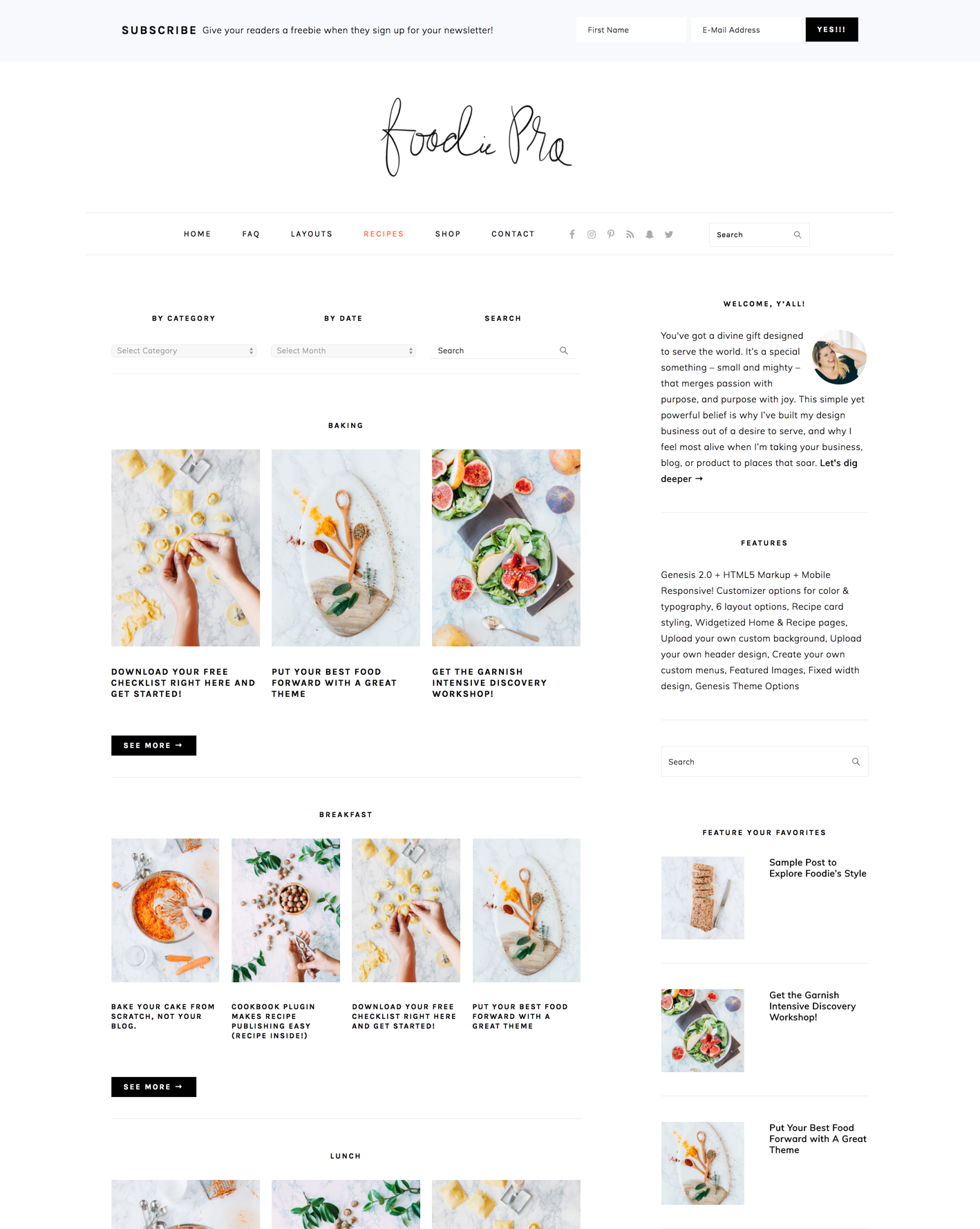 How To Configure The Foodie Pro Recipe Index Feast Design Co