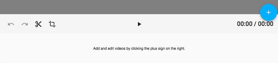 empty editor timeline