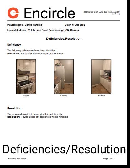 Deficiencies/Resolution