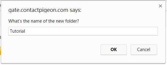 Name folder