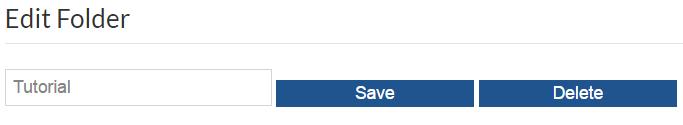 edit or delete folder