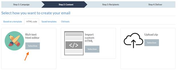 Select HTML Input Format