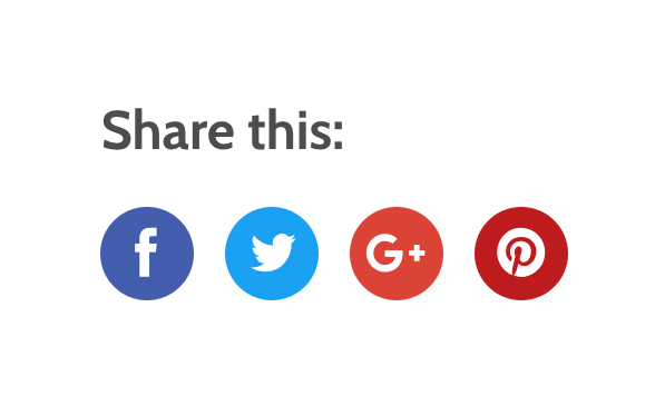 Social Media Share Buttons on Product Page