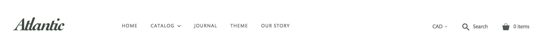 Atlantic header with navigation menu and logo