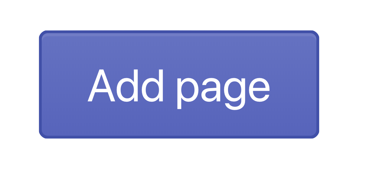 Add page button in Shopify admin