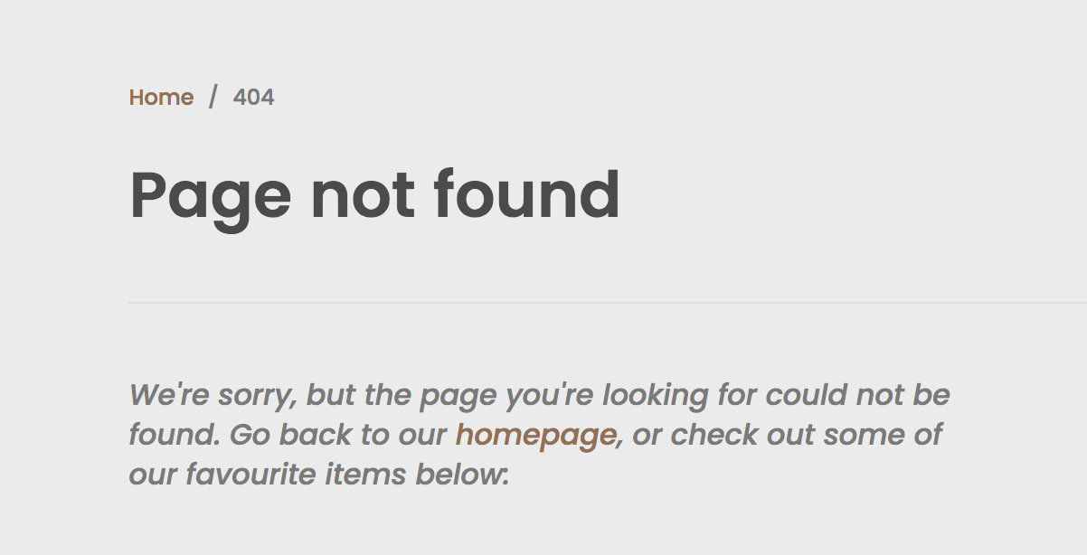 404 page from Atlantic Chic demo