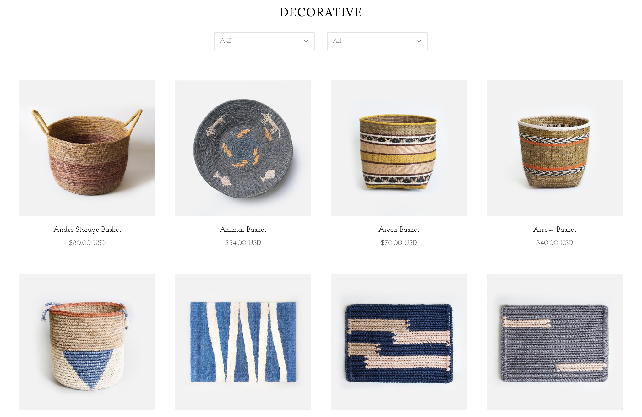 Collection page with 8 products visible