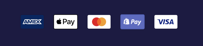 Payment icons enabled and visible in footer