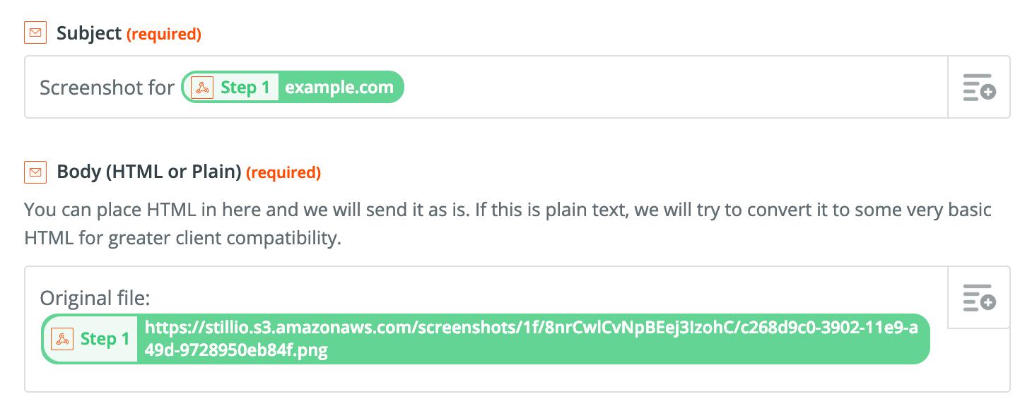 Email screenshots as PDF | Stillio