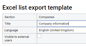 Exporting to Excel