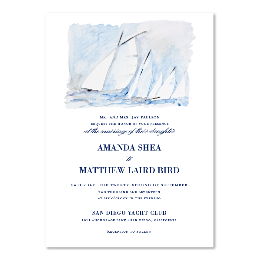 san diego yacht club invitations