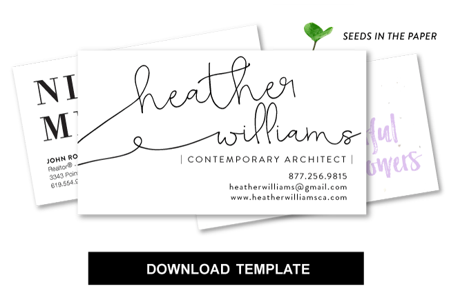 custom template for business cards rectangle