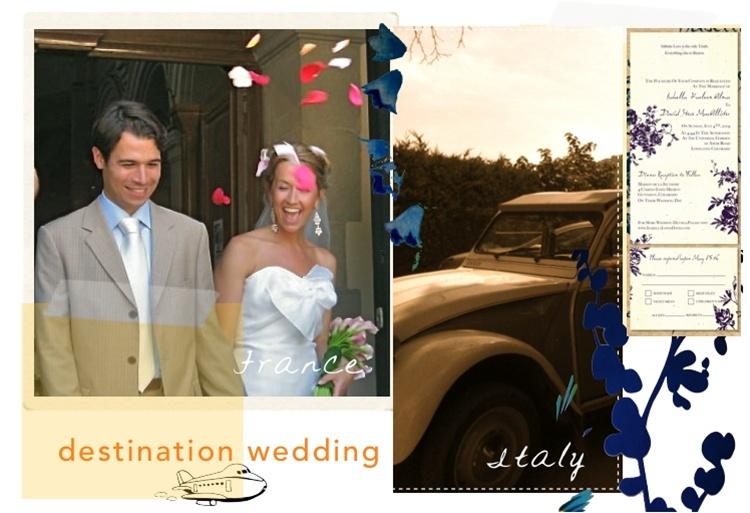 Destintation Wedding invitations by ForeverFiances