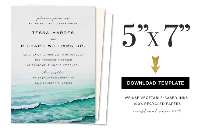 5x7 template for invitation foreverfiances
