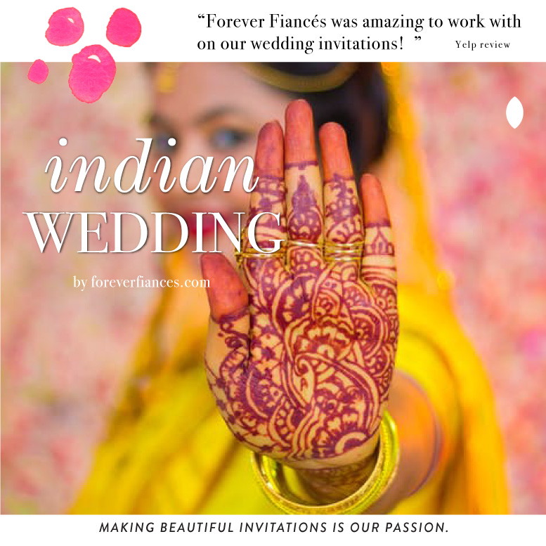 Indian theme wedding invitations