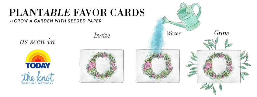 seeded paper favors for wedding
