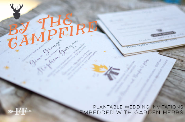campfire wedding invitations