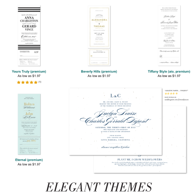 sophisticated and classy wedding invitations
