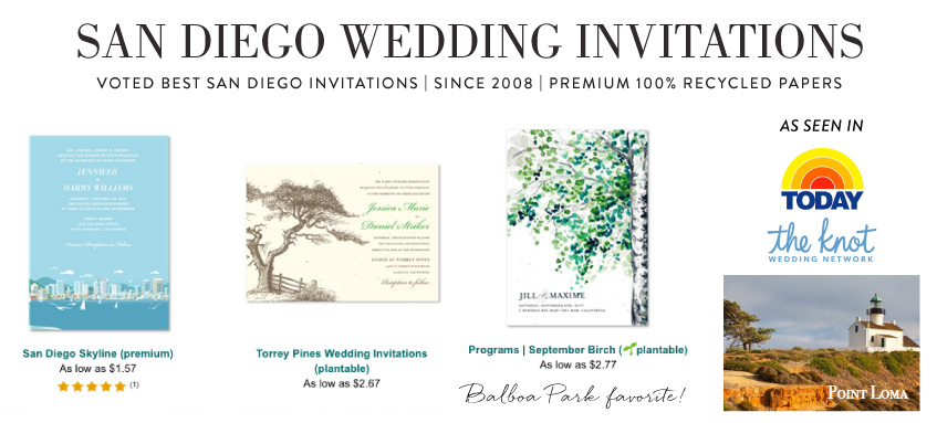 San Diego wedding invitations