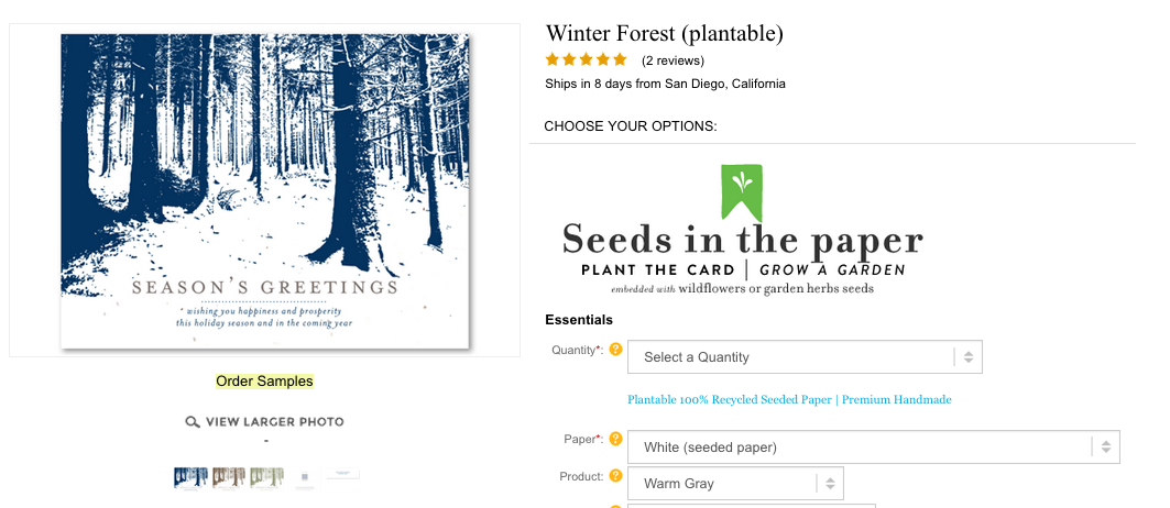 Winter Forest greeting cards for holidays