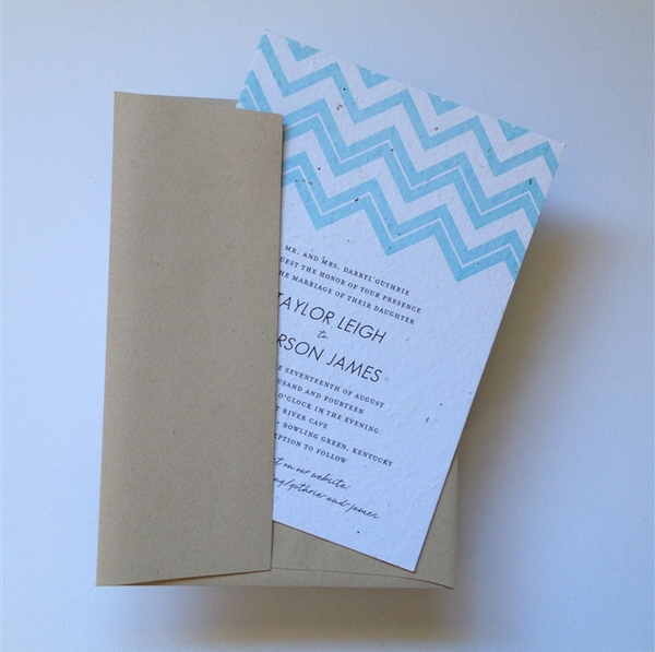 1920's Chevron Gatsby Wedding invitations