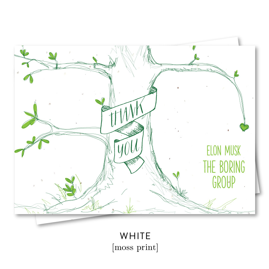 Our tree business thank you notes