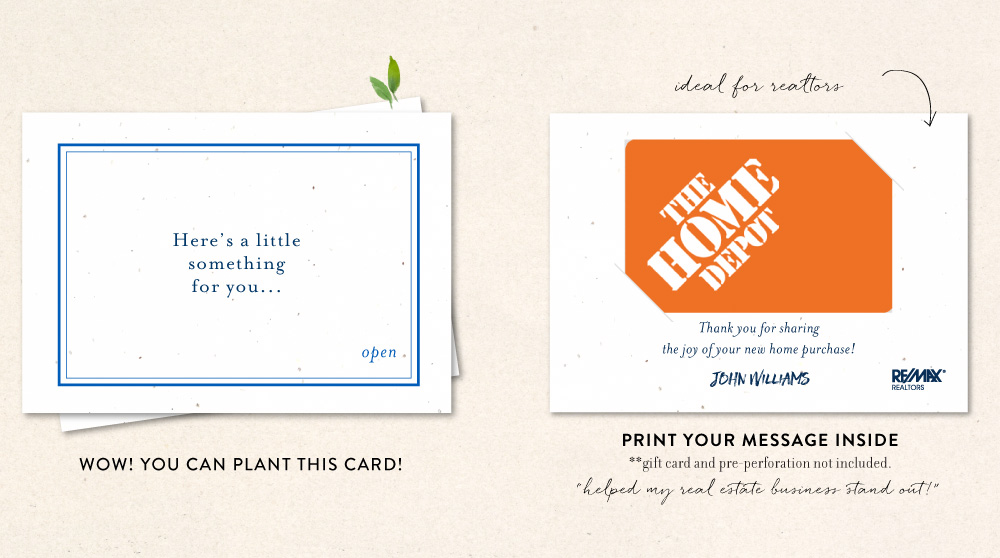 gift card thank you notes business