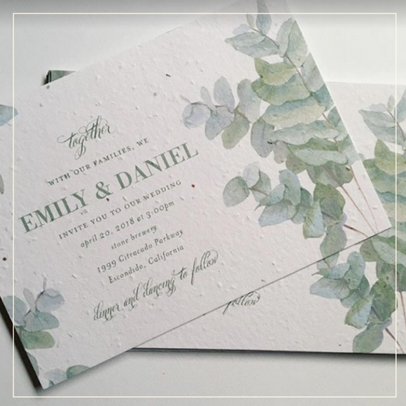eucalyptus tree wedding invitations