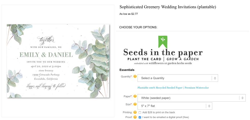 sophisticated greenery Eucalyptus Tree leaves Invitations