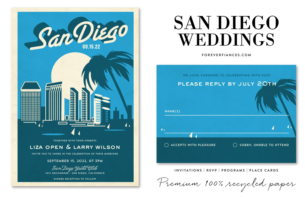 san diego wedding invitations by foreverfiances