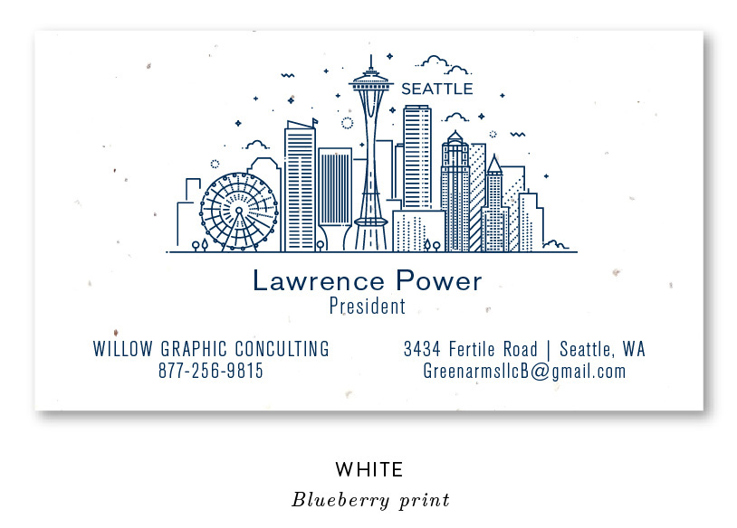 Seattle skyline business cards