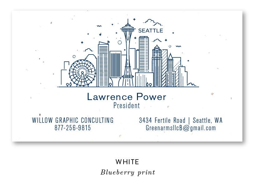 Seattle skyline business cards