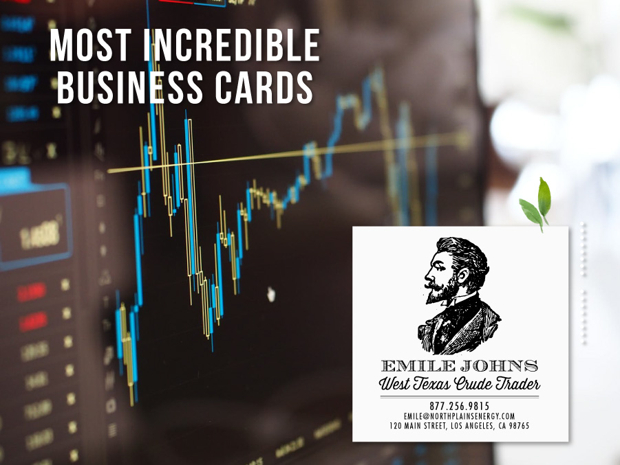 business cards for traders
