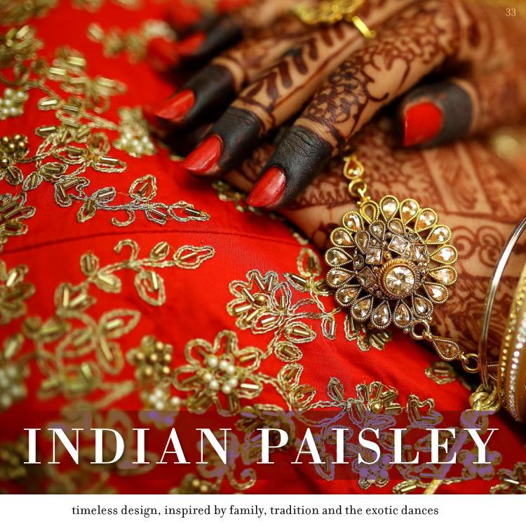 indian paisley henna invitations