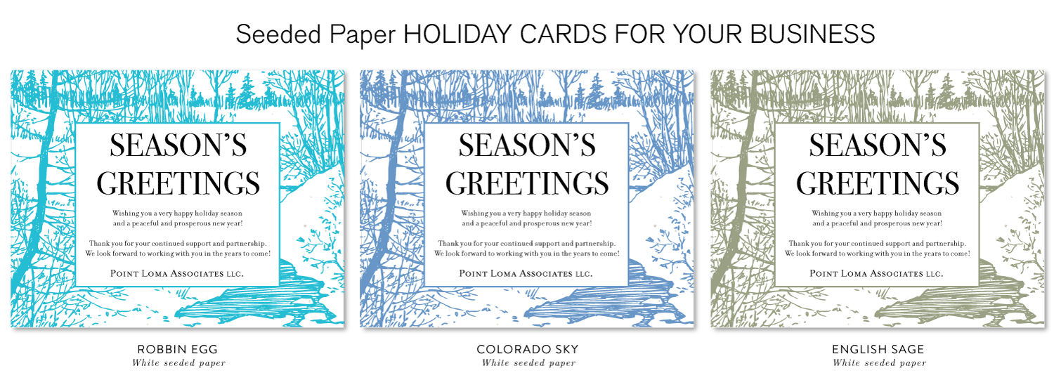 eco friendly holiday cards business
