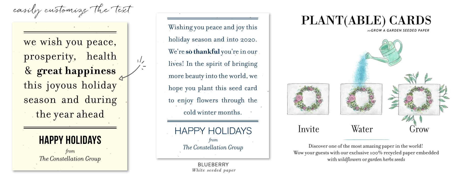 thankful message business holiday cards