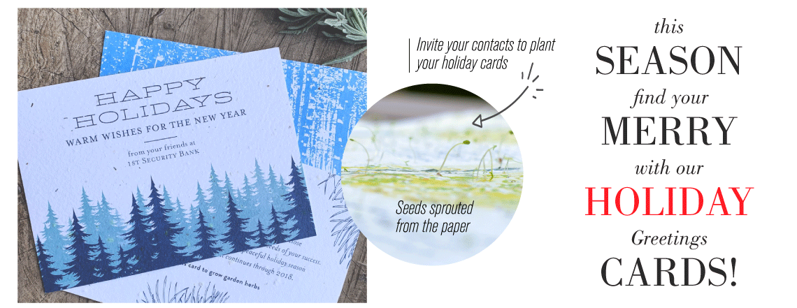business holiday cards green