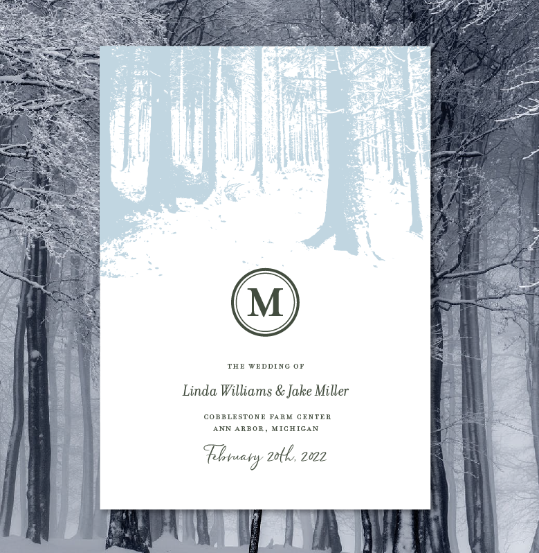 Winter Forest Wedding Programs