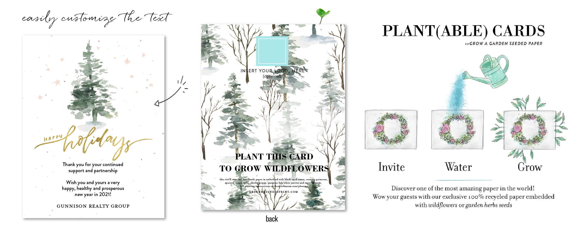 Bright & Merry Tree cards