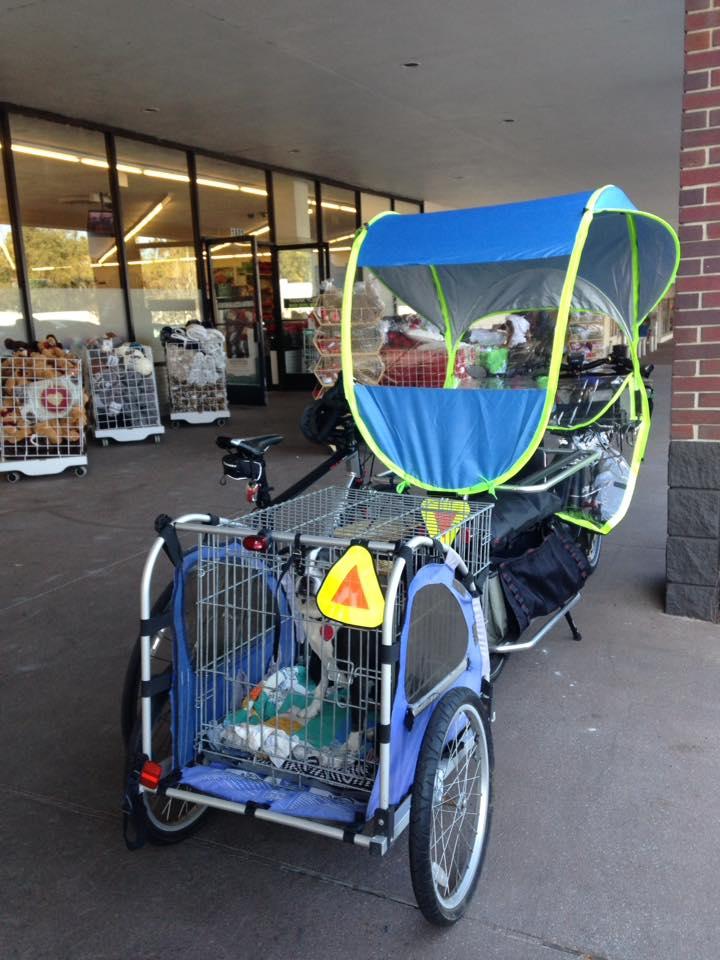 xtracycle cargo bike trailer
